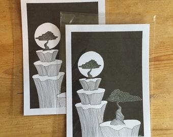 A5 tree original prints