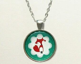 Fox Necklace, fox jewelry, fox pendant necklace, woodland necklace, woodland jewelry, woodland forest necklace forest jewelry forest pendant