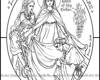 saint germaine cousin coloring page