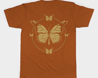 Animal T-Shirt, butterfly t shirt, wildlife t shirt, screen printed t shirt, butterfly design, original t shirt, adult t shirt, kids t shirt