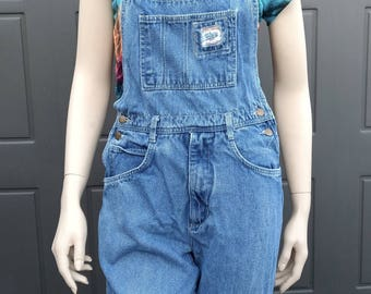 Vintage  Blue denim Overalls Sz Small