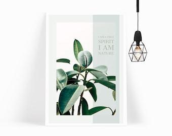 Wall Art,Poster,Prints,Home Decor,Office Decor,Art Print,Gift for Her,Gift for Him,Modern Art,Leaves,Framed Art,Plant,Botanical Print
