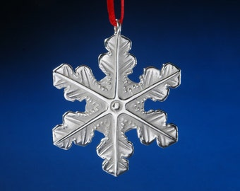 Sterling Silver Snowflake Ornament