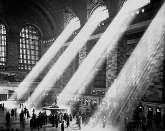 Grand Central Station photo print NY New York NYC vintage photo old NYC train station terminal old New York antique photograph 1940s