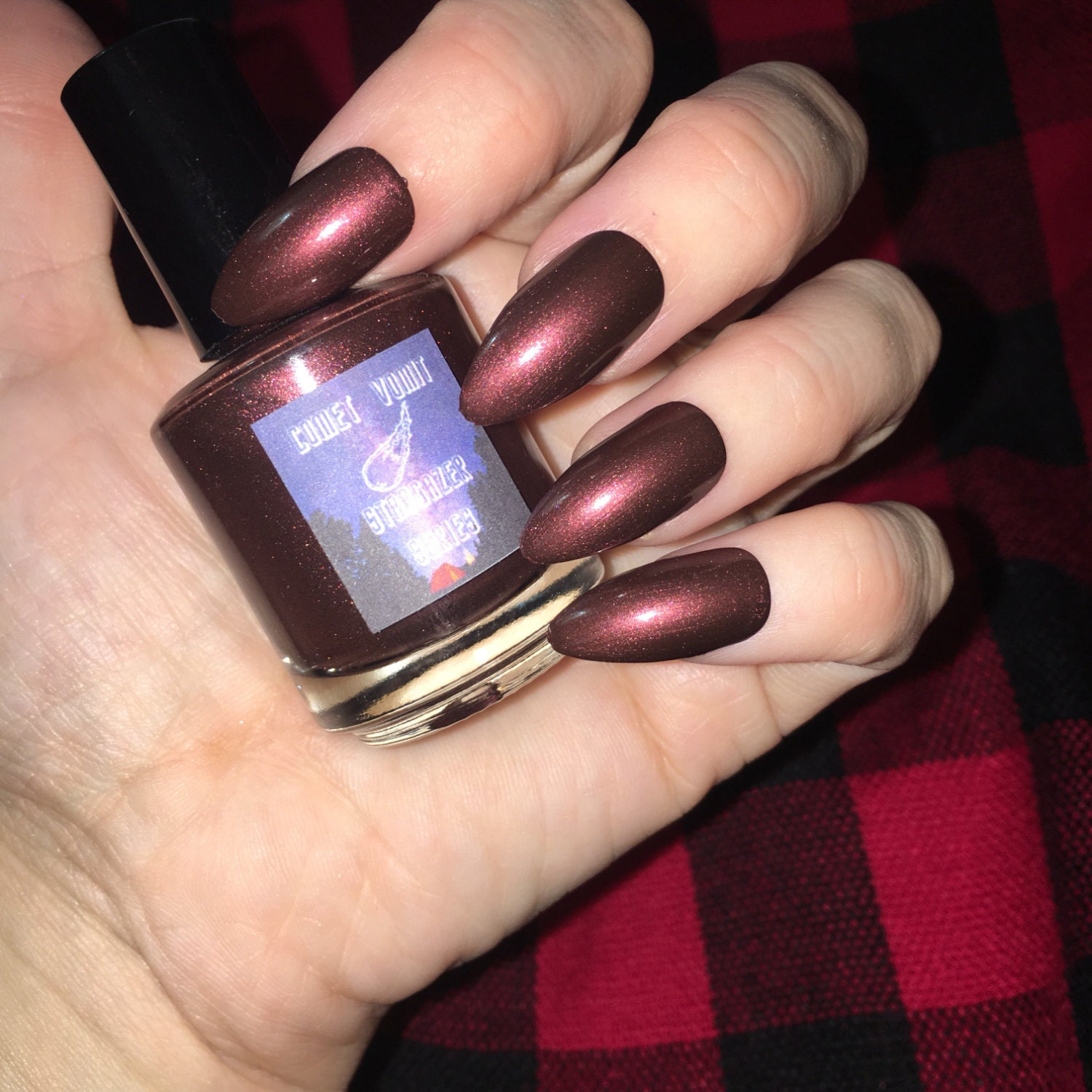 Campfires and Constellations Red gemstone Nail Polish jewel tone ...