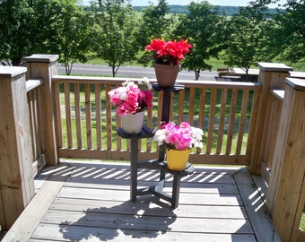 plant stand five pot flower stand indoor flower pot stand