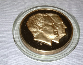 1973 Nixon Agnew Bronze Medal Re Election Second Term