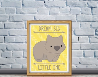 Wombat Nursery Quote Print