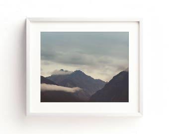 """mountain landscape, landscape wall art, large art, large wall art, fine art photography, colorful, art prints, art print - """"Ancient Valleys"""""""