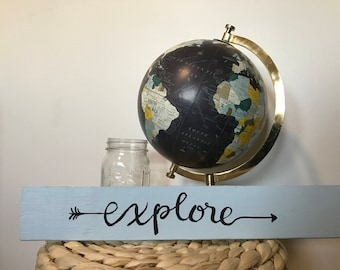 Explore wooden sign