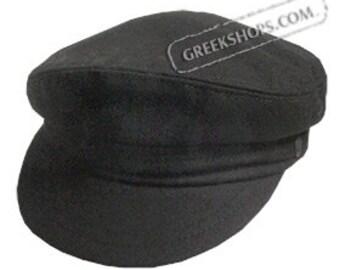 Greek Fiddler Fisherman Hat - Black Wool