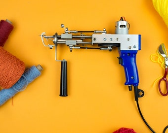 Rug tufting gun machines: Cut or loop pile