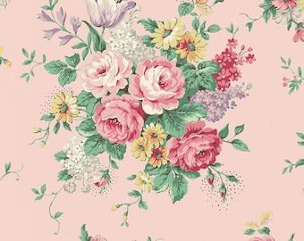 Quilt Gate USA Ruru Bouquet English Rose Garden Collection   English Rose Garden   # RU2310-11B Pink