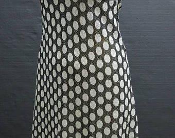 Stunning 70s silver lurex maxi dress