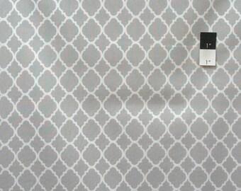 Quatrefoil Grey Quilting Cotton Fabric By Yard