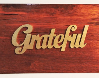 Grateful Wall Hanging Sign - In Stock Ready To Ship.