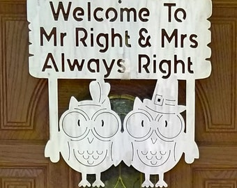 Plasma Cut Owl Welcome Sign Wall Plaque Made to Order in Raw Steel or Painted