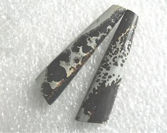 Dendritic Jasper long earring cabs