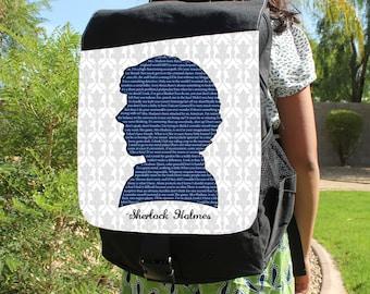 "SHERLOCK  ""Sherlock Quotes"" Canvas Backpack Bag"