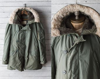 Vintage N-3B Parka - Snorkel Hood Coat - sz Men's Small