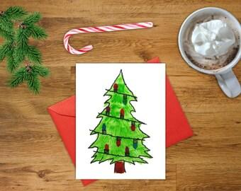 Christmas Tree Card   Printable Christmas Card