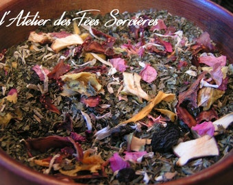 Tisane Clair de lune, infusion pour la Pleine lune et l'Esbat, wiccan/Moonlight herbal tea, infusion for the Full Moon and the Esbat, wicca