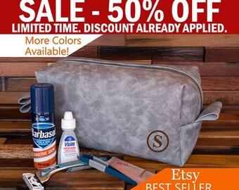 Groomsman Gift Toiletry Bag, Men's Dopp Kit, Best Man Gift, Travel Bag, Shaving Bag, Monogram, Men Gift Ideas, Hanging, Personalized Men Bag