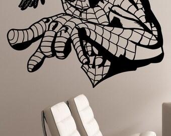 Spiderman Wall Decal Vinyl Sticker Marvel Comics Art Superhero Decorations for Home Teen Kids Boys Room Bedroom Playroom Decor spm2