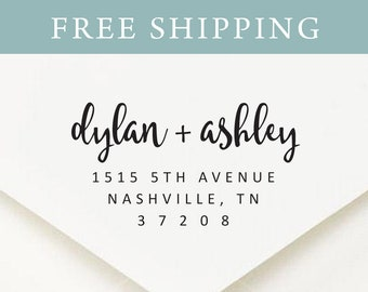 Return Address Stamp, Address Stamp, Self Inking Return Address Stamp, Custom Rubber Stamp, Personalized Self Inking Wedding Stamper (S5511)