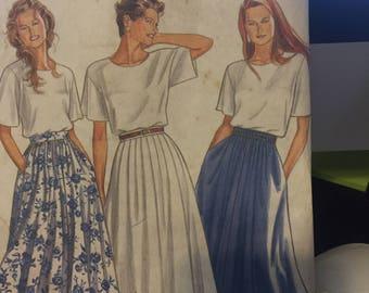 New Look pattern 6560 skirt pattern - seven sizes in one - size 8-20 - uncut