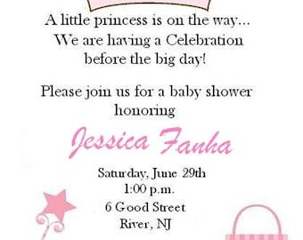 Baby Shower Princess Invitation