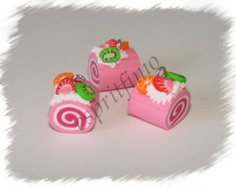 "Charm ""log Strawberry"" Fimo"