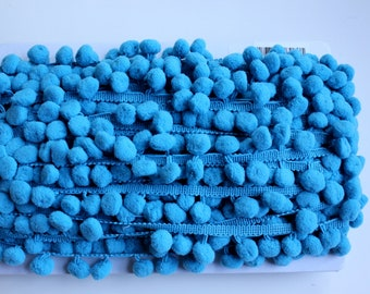 Pom Pom Fringe - Blue - 3 Yards