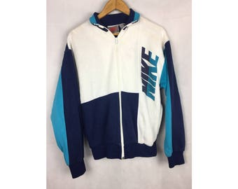 NIKE Sweater Small Size Sweater With Big Spell Out Logo Made in USA