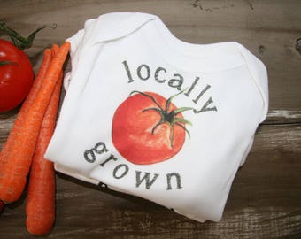 Baby Onesie - Locally Grown tomato