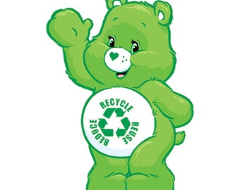 reduce reuse recycle carebear JPEG and PNG white and transparent background versions included