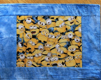 Minion quilted placemats. Childrens placemat. Disney placemat, table toppers, everyday placemat. Superhero placemat