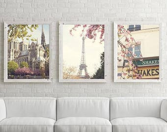 Paris wall art, Paris photography, extra large wall art, Paris prints, framed wall art, Paris decor, mothers day gift, cherry blossom art