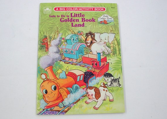 Vintage Little Golden Book Land Coloring and Activity Book