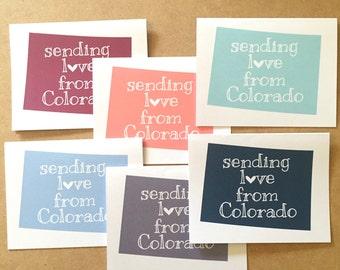 Colorado greeting card, Colorado gifts, Colorado cards, Colorado state, Colorado map, State of Colorado, Colorado state gift, Denver gift