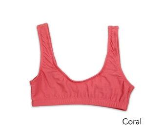 Rib Sport Bikini Top, Swimwear, Swimsuit, Bathing Suit, Bikini Top, Women's Swimwear