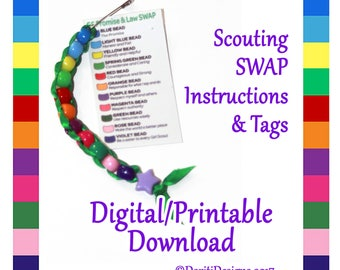 Beaded SWAP Instructions & Tags ~ Digital / Printable File only