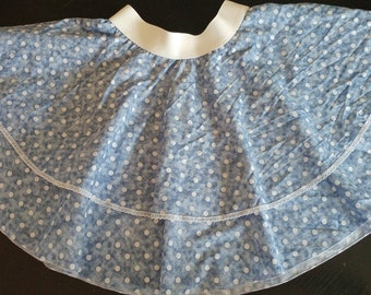 Double Denim Dots twirling girls or toddler skirt