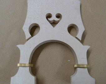 adjustable DOUBLE BASS  bridge , 3/4 size maple + brass UK Seller