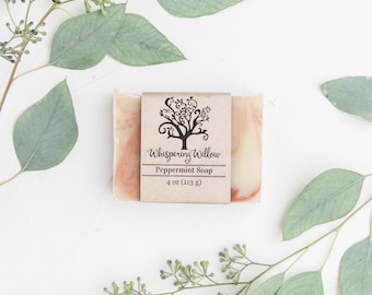 Peppermint Bar Soap - Handcrafted, Vegan