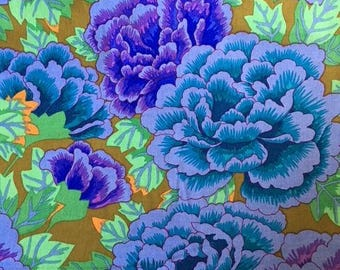 2 yards Kimono in cobalt and turquoise from the Kaffe Fassett Collection