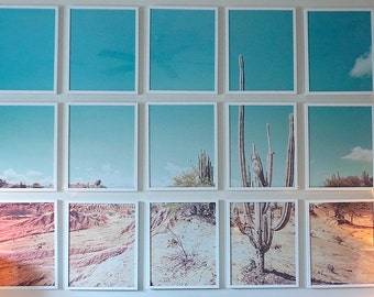 CUSTOM SIZED Cactus Desert Gallery Wall