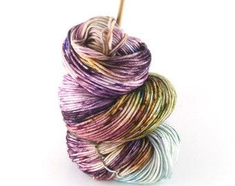 "Hand dyed yarn,  100% Super wash merino wool, DK weight, 4 ply, 231 yards,  ""To Market"""