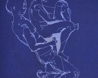 Navy Blue Hanky- Mature