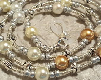 Simply Pearls eyeglass sunglass handcrafted beaded chain never lose your glasses again!